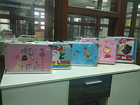 Набор для рисования раскладном пенале голубой и розовый