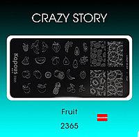 Пластина для стемпинга Crazy story Fruit