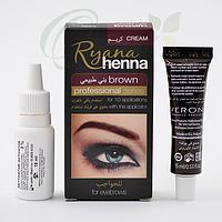 Хна для бровей (Cream Ryana henna), коричневая