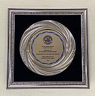 Наградная тарелка в багетной раме
