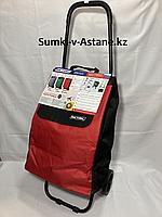 "Хозяйственная сумка-тележка для продуктов""Спутник"",на 2-х колесах.Высота 95 см, ширина 36 см, глубина 27 см., фото 1"