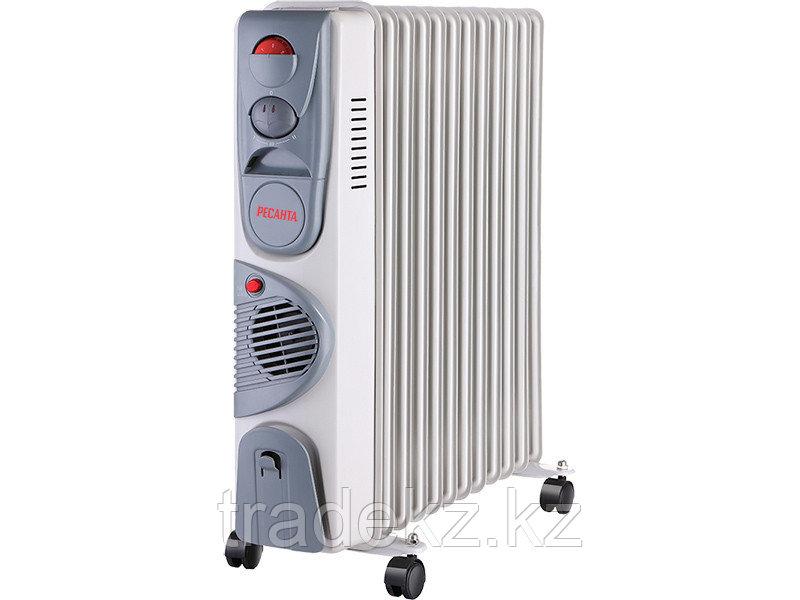 Масляный радиатор, обогреватель ОМ-12НВ Ресанта с тепловентилятором