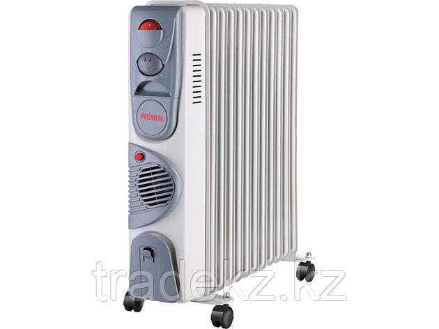 Масляный радиатор, обогреватель ОМ-12НВ Ресанта с тепловентилятором, фото 2