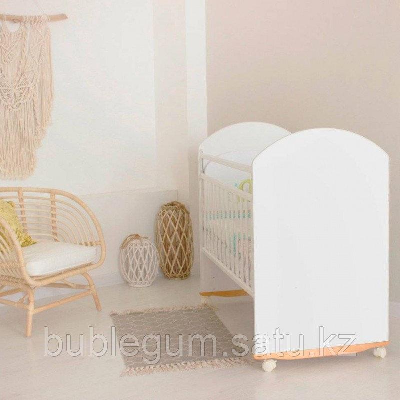 Кровать Bonito с ящиком, цвет белый, колесо-качалка