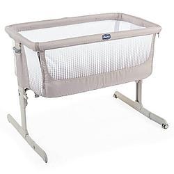 Chicco: Кроватка-манеж Next2Me Air Dark Beige 0м+