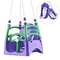 Doloni качели детские подвесные пластиковые фиолетовый/салатовый