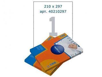 Этикетки самоклеящиеся Multilabel, А4, 210 х 297 мм., 1 шт/лист, 100 л.