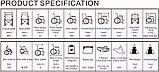 Инвалидная коляска электр. Вес 24 Кг. Cosin color 120S, 24v  300w. Аккум.  Li-ion 24v 10 A/H, фото 2