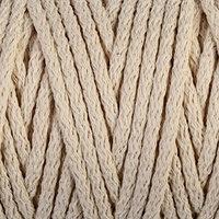 Шнур для вязания 'Пухлый' 100 хлопок ширина 5мм 100м (суровый)