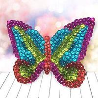 Аппликация пайетками 'Бабочка' 4 цвета пайеток