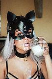 Кожаная маска Мышка со стразами, фото 2