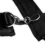 Черные плюшевые наручники, фото 3
