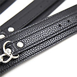 Черные узкие наручники  для фиксации рук, фото 4