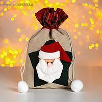 Мешок для подарков «Новогодний», со звездой, виды МИКС