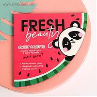 Палетка для макияжа Fresh beauty, румяна, хайлайтер и тени для век, 4 оттенка