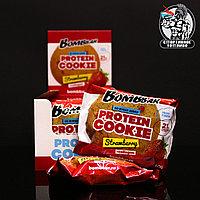 BombBar - Низкокалорийное протеиновое печенье 1шт/60гр Клубника