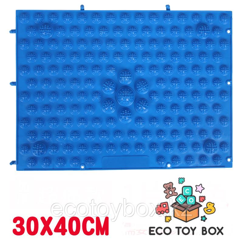 Массажный коврик-конструктор зеленый 30*40 см - фото 4