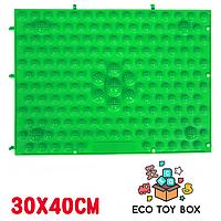 Массажный коврик-конструктор зеленый 30*40 см