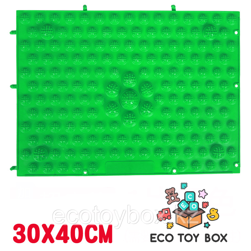 Массажный коврик-конструктор зеленый 30*40 см - фото 1