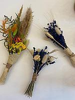 Букеты из сухоцветов, асс.цветов, высота 15-17 см