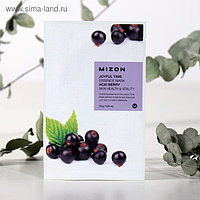 Тканевая маска для лица с экстрактом ягод асаи MIZON Joyful Time Essence Mask Acai Berry, 23 г