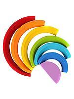 Деревянная радуга, геометрическая монтессори игра-конструктор для детей