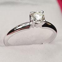 Сертификат GIA 0,33Сt SI1/M EX-Cut Золотое 585 пр. кольцо с бриллиантом, фото 1