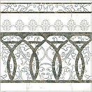 Керамогранит 45х45 Rome | Роме белый с серыми прожилками, фото 4