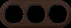Рамка на 3 поста /WL15-Frame-03 (венге)