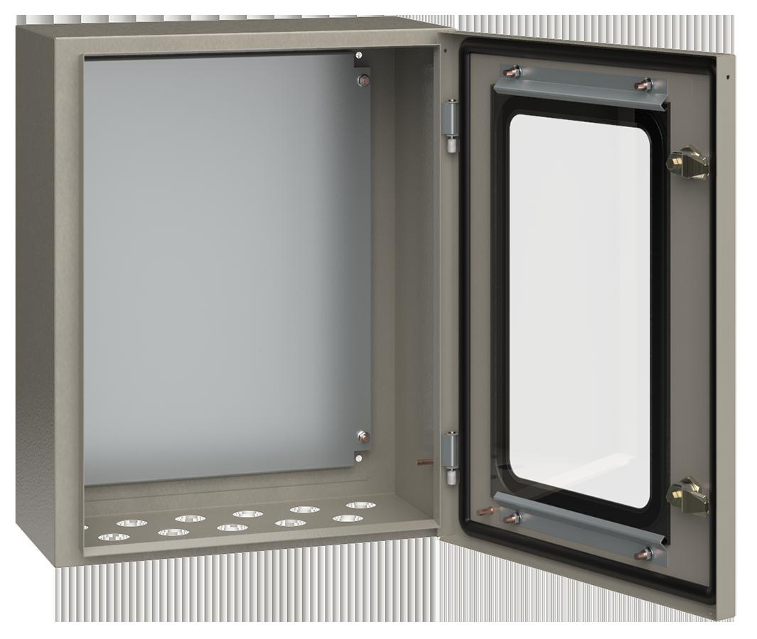 Корпус металлический ЩМП-2-0 У2 IP54 с прозрачной дверцей ИЭК
