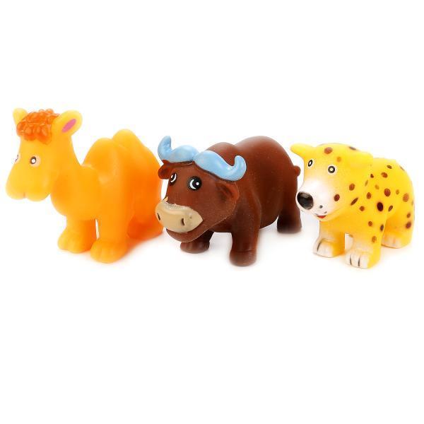 IV. Игрушки для ванной Животные Африки, 3 шт., в сетке