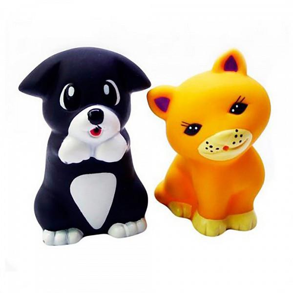 IV. Игрушки для ванной Щенок и котенок, в сетке