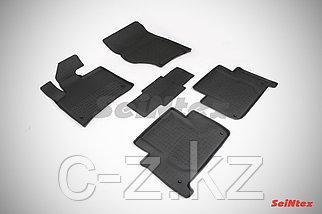 Резиновые коврики с высоким бортом для Audi Q7 2005-2015