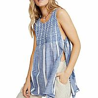 Free People Женская пляжная одежда туника на завязках 2000000390918