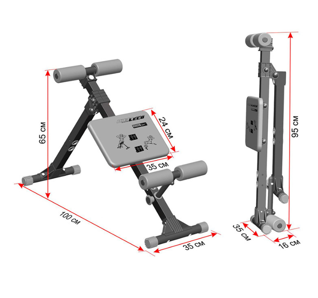 Скамья для пресса и мышц спины 140 кг Россия - фото 2