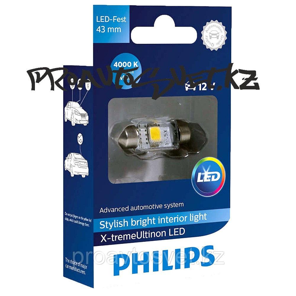 LED PHILIPS 43 mm 4000K X-treme Ultinon 12V 1W 129454000KX1