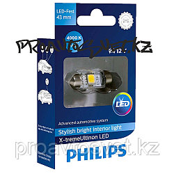 LED PHILIPS 43 mm 4000K X-treme Ultinon 12V 1W 129454000KX1