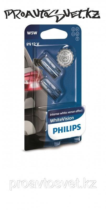 Галоген PHILIPS W5W White Vision 12V 12961NBVB2