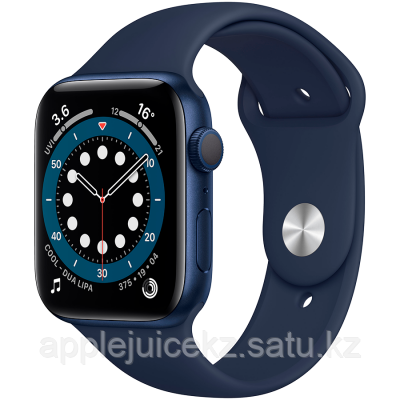 Apple Watch Series 6, 44 мм, корпус из алюминия синего цвета, спортивный ремешок «тёмный ультрамарин