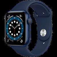 Apple Watch Series 6, 44 мм, корпус из алюминия синего цвета, спортивный ремешок «тёмный ультрамарин, фото 1