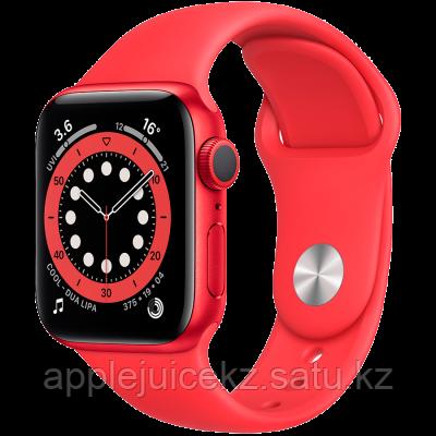 Apple Watch Series 6, 44 мм, корпус из алюминия цвета (PRODUCT)RED, спортивный ремешок красного цвет