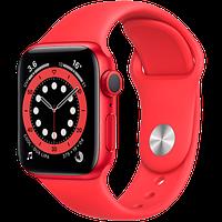Apple Watch Series 6, 44 мм, корпус из алюминия цвета (PRODUCT)RED, спортивный ремешок красного цвет, фото 1