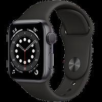 Apple Watch Series 6, 44 мм, корпус из алюминия цвета «серый космос», спортивный ремешок, фото 1