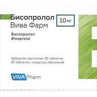 """Бисопролол """"Вива Фарм"""" 10 мг №30 табл."""