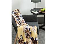 Плед Louise, цветы, бежевый 180х200 +/- 3 см