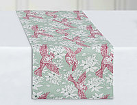 Дорожка столовая Origami, птицы, мята