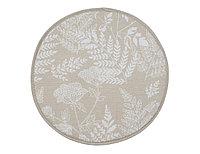 Подушка на табурет Herbarium, цветы, бежевый