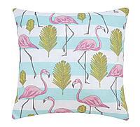 Подушка декоративная на молнии Flamingo, птицы, розовый