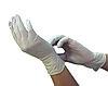 Перчатки виниловые опудренные AISULU белые ХL (50 пар) №71374(2)
