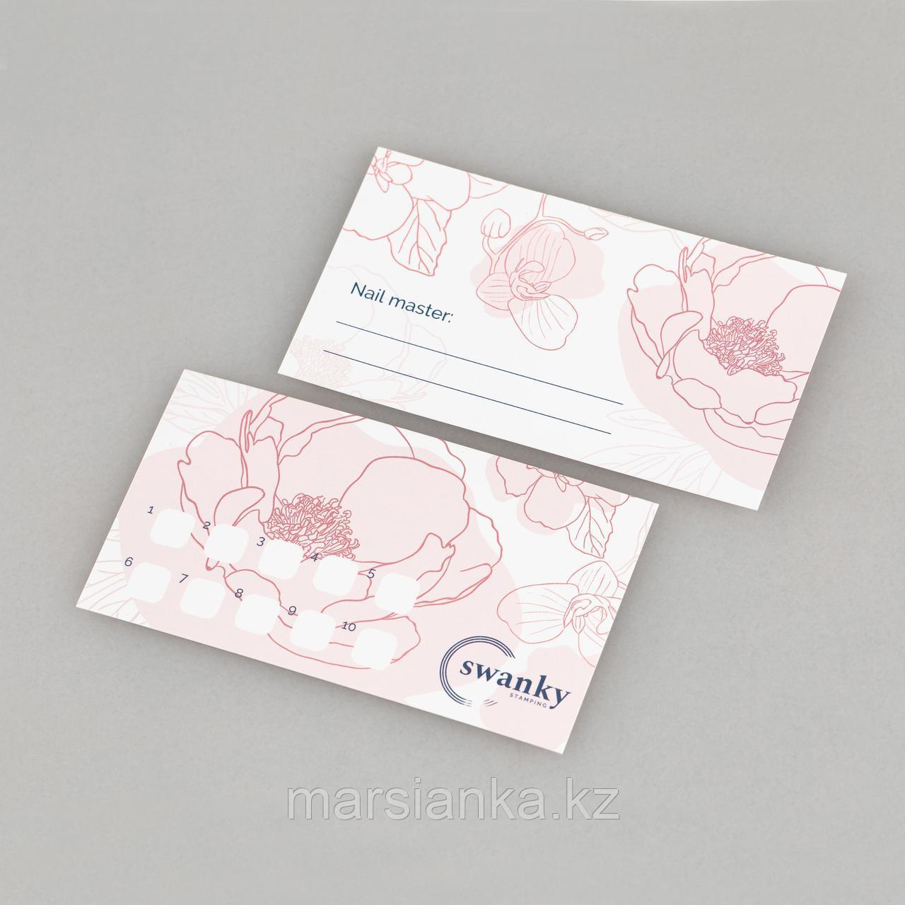 Набор визиток для Мастера Swanky Stamping, Пионы - фото 2